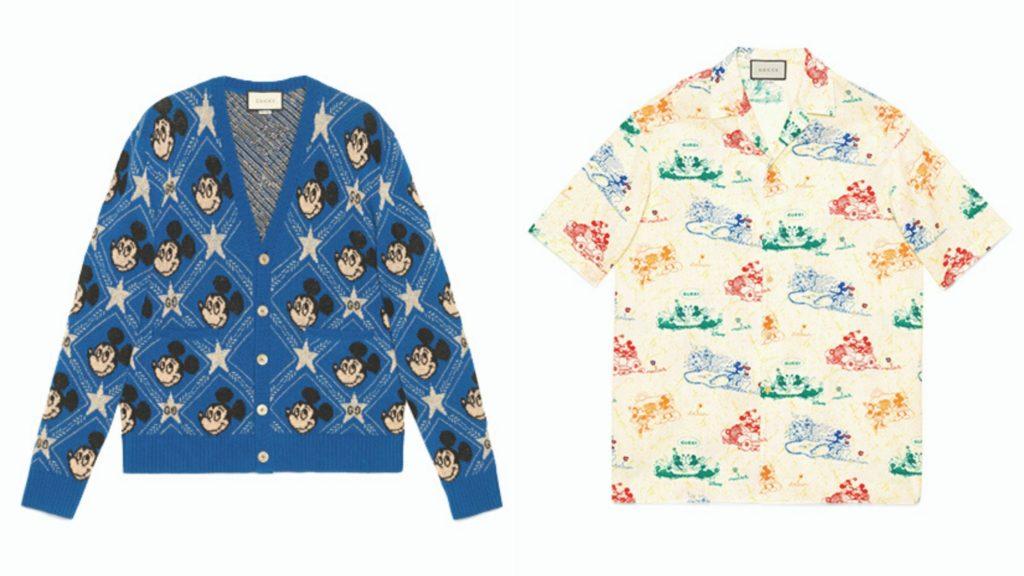 gucci mickey mouse cardigan shirt