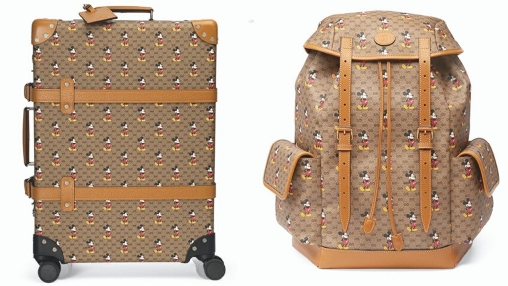 gucci mickey mouse suitcase backpack