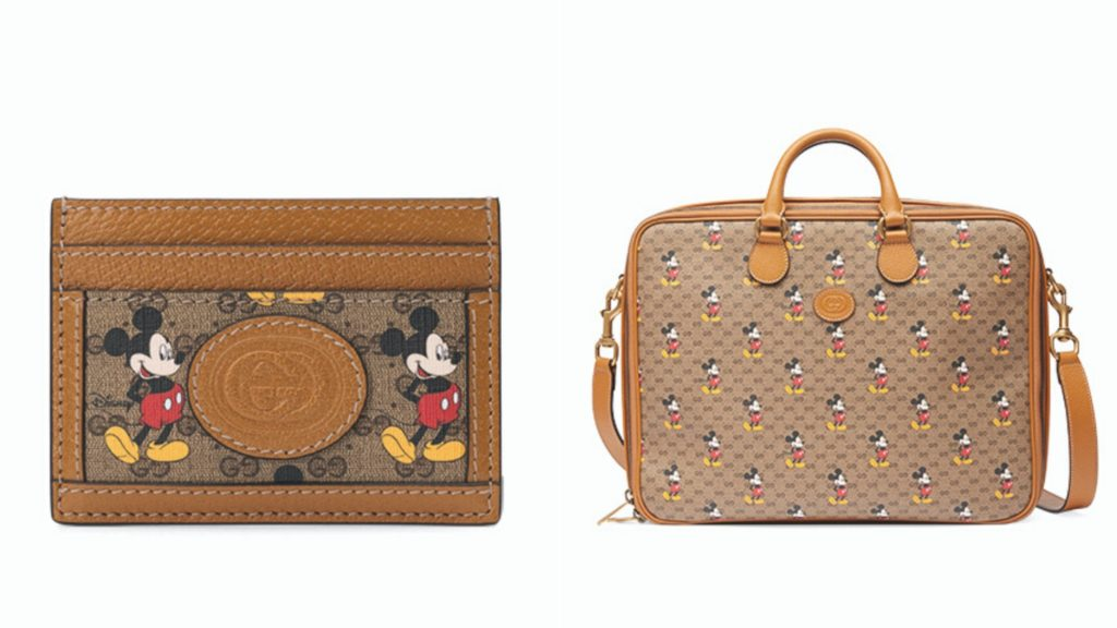 gucci mickey mouse name cardholder bag
