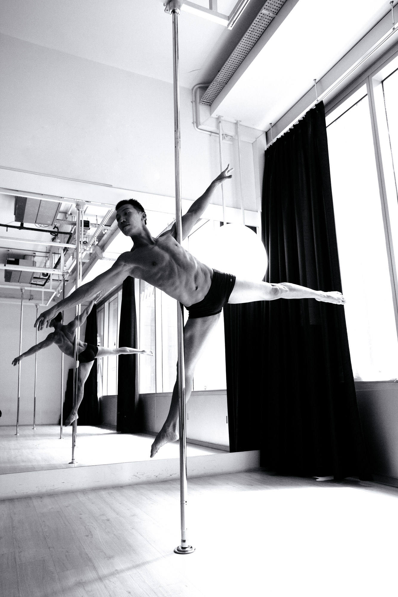 Pole dancing with Slap Dance Studio