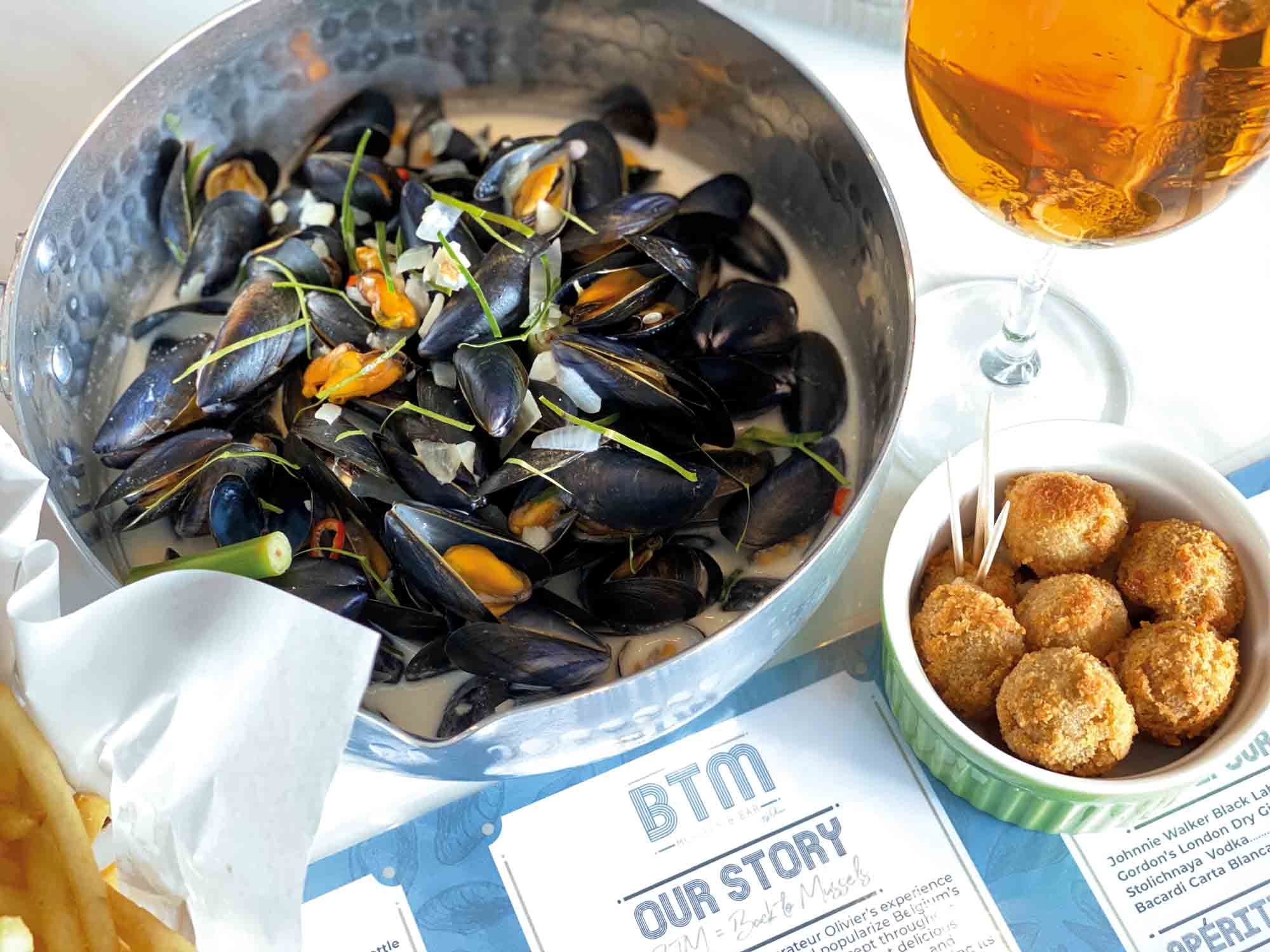 scrumptious delights from BTM Mussels & Bar