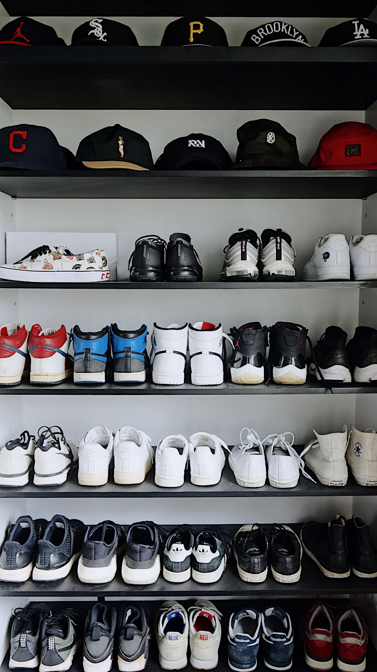 Organised shoe rack for easy selection. Photo: Sortorial