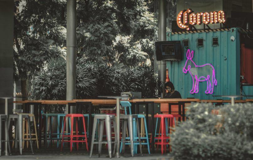 empty Corona bar