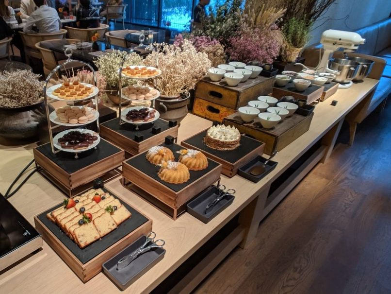 Atas Modern Eatery buffet spread