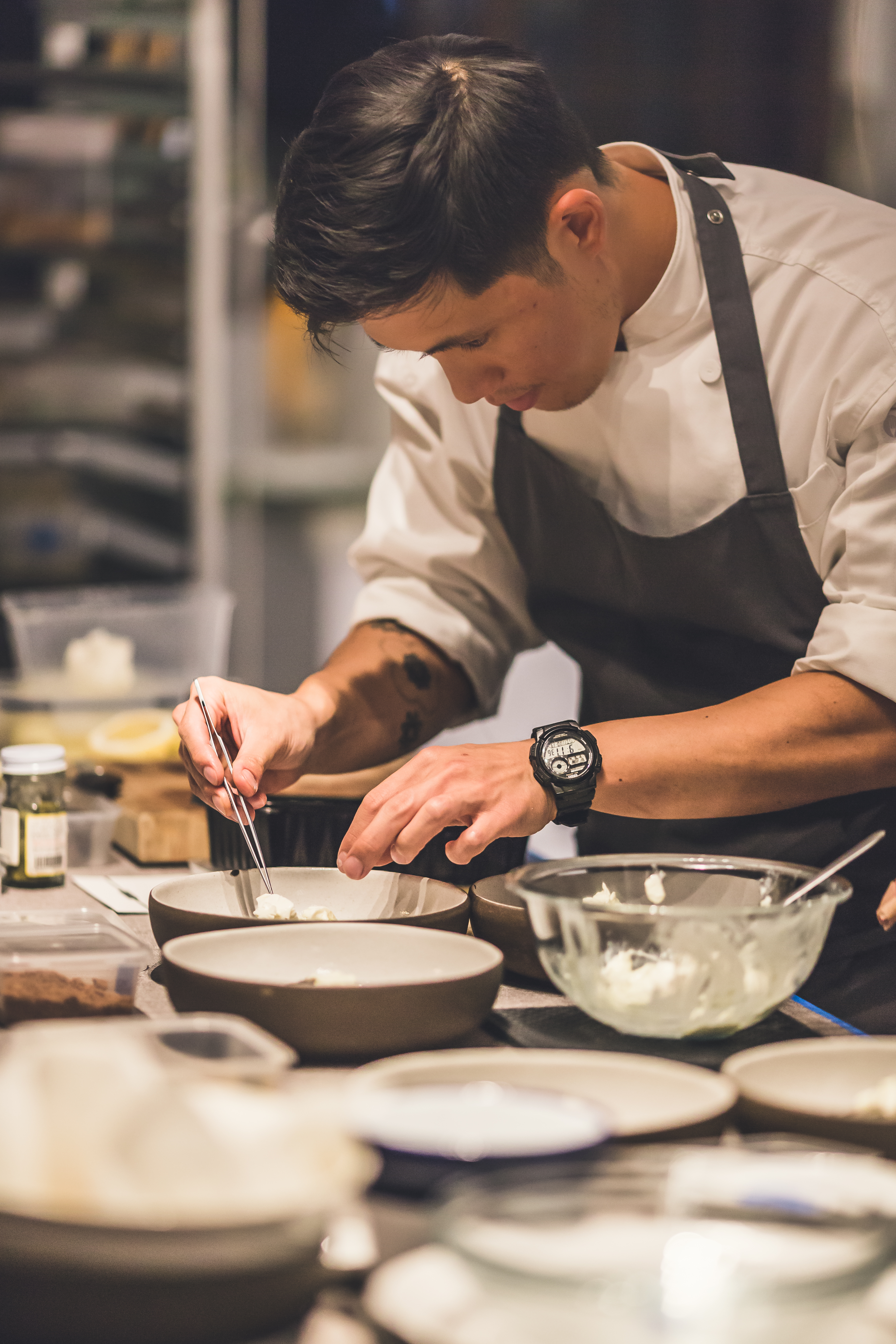 Chef Chris Kong cooks up a storm in the kitchen. Photo: Dearborn SG