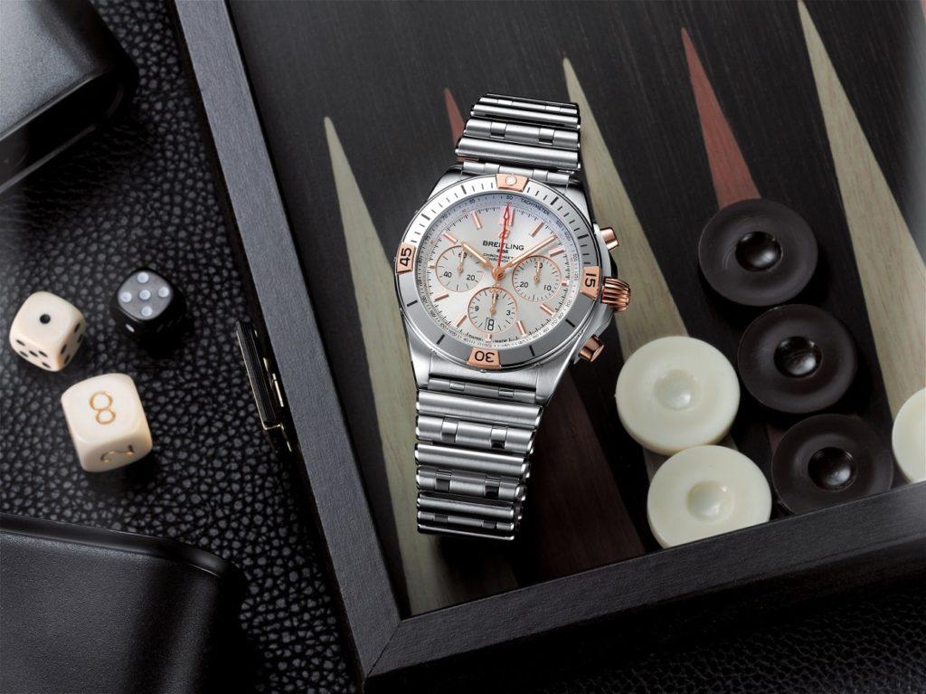 Breitling Chronomat chronograph 2020 steel red gold