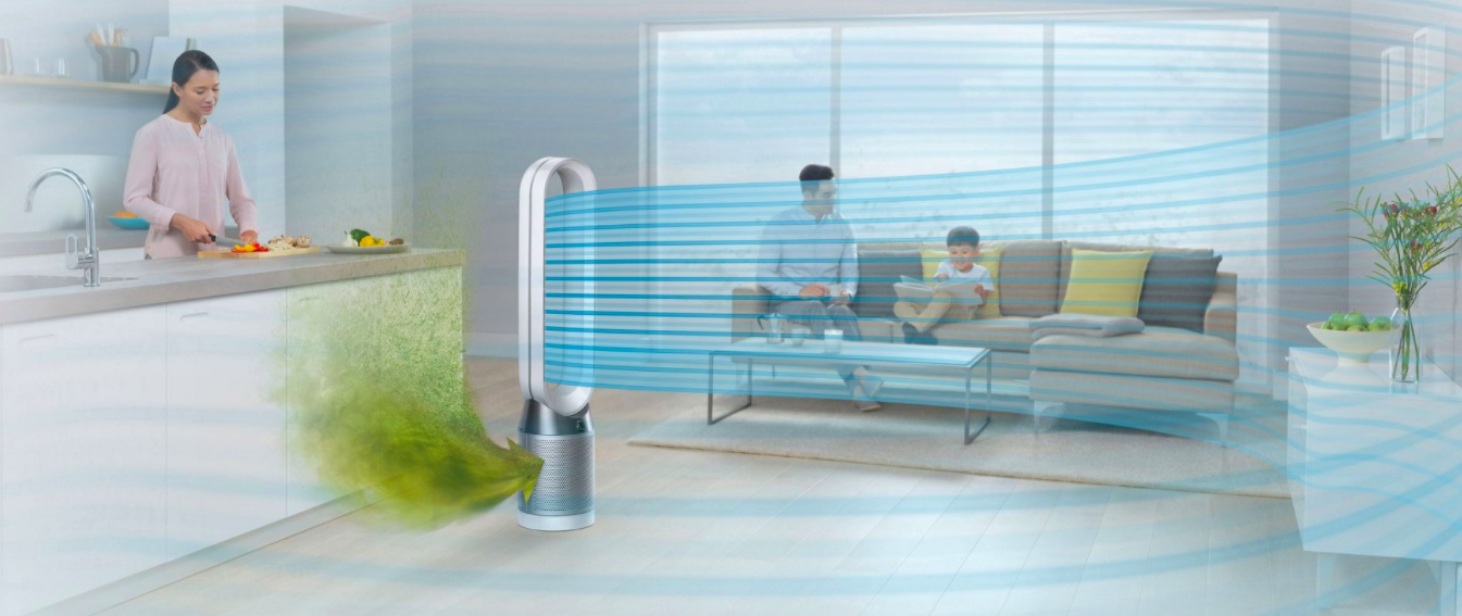 The Dyson Pure Cool Air Purifier Tower Fan Keeps You Cool And Protected