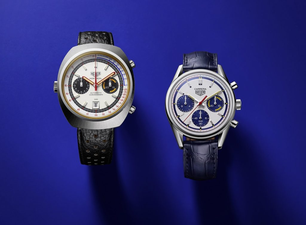 Heuer Montreal (left) and TAG Heuer Carrera 160 Years Montreal Limited Edition (right)