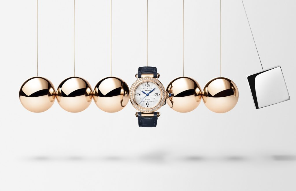 Cartier Pasha in pink gold with diamonds
