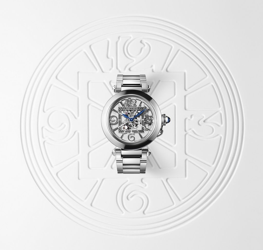 Pasha De Cartier Skeleton in steel