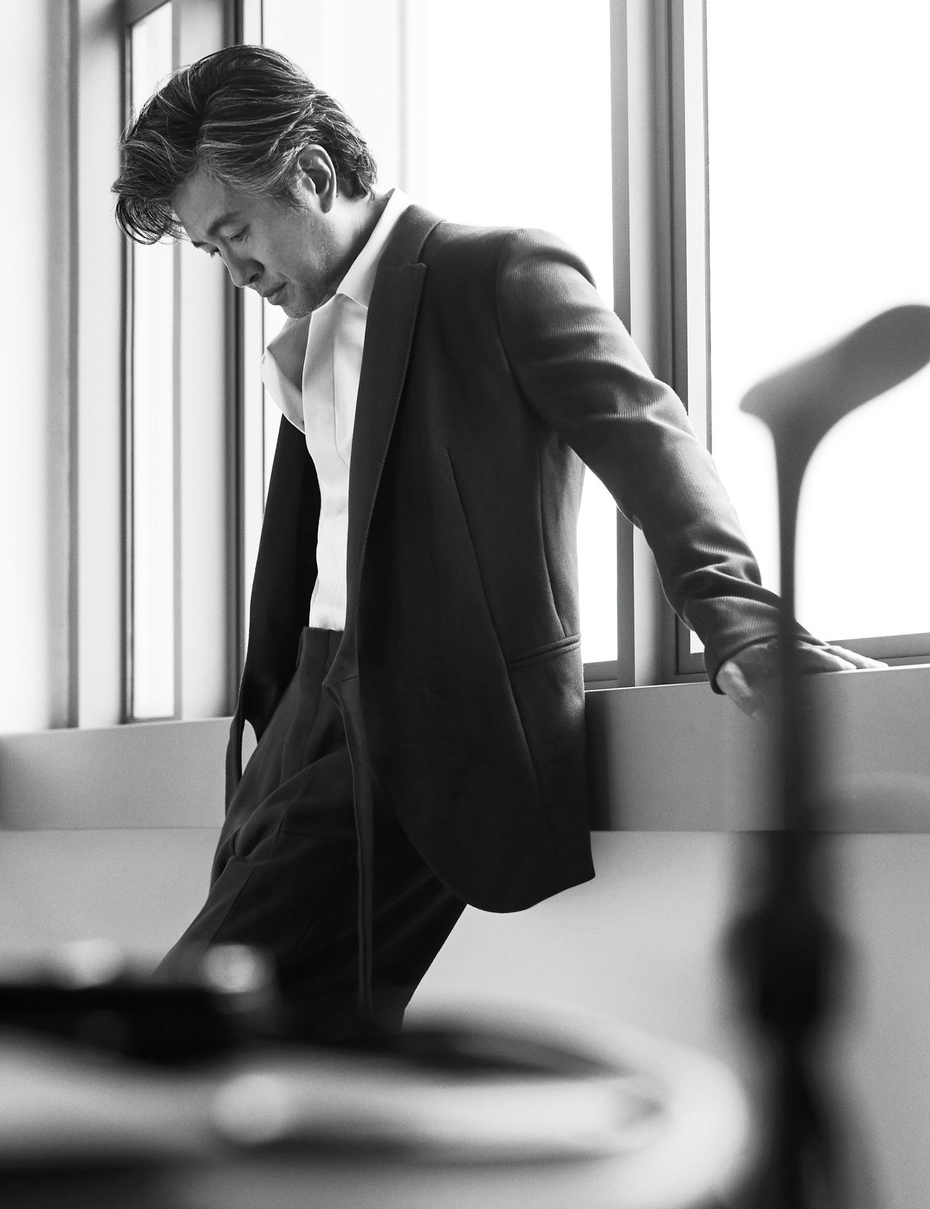 Adrian Pang for AUGUSTMAN, wearing Ermenegildo Zegna Couture. Photo: Wee Khim; Styled by Felix Woei