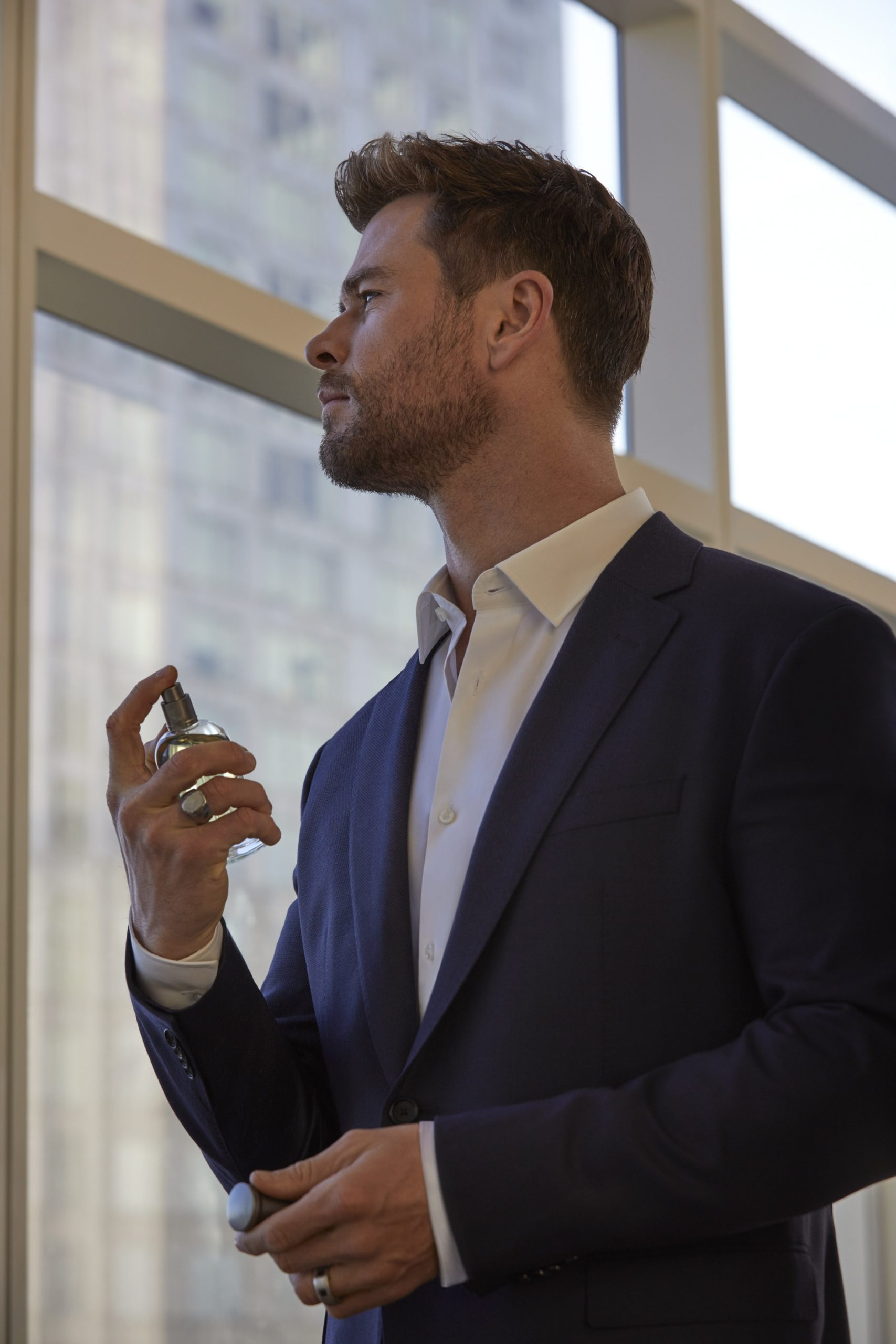 Chris Hemsworth, face of Boss Bottled EDP. Photo: Hugo Boss
