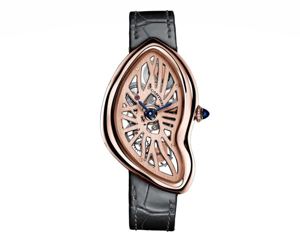 Cartier's shaped watches Crash Skeleton