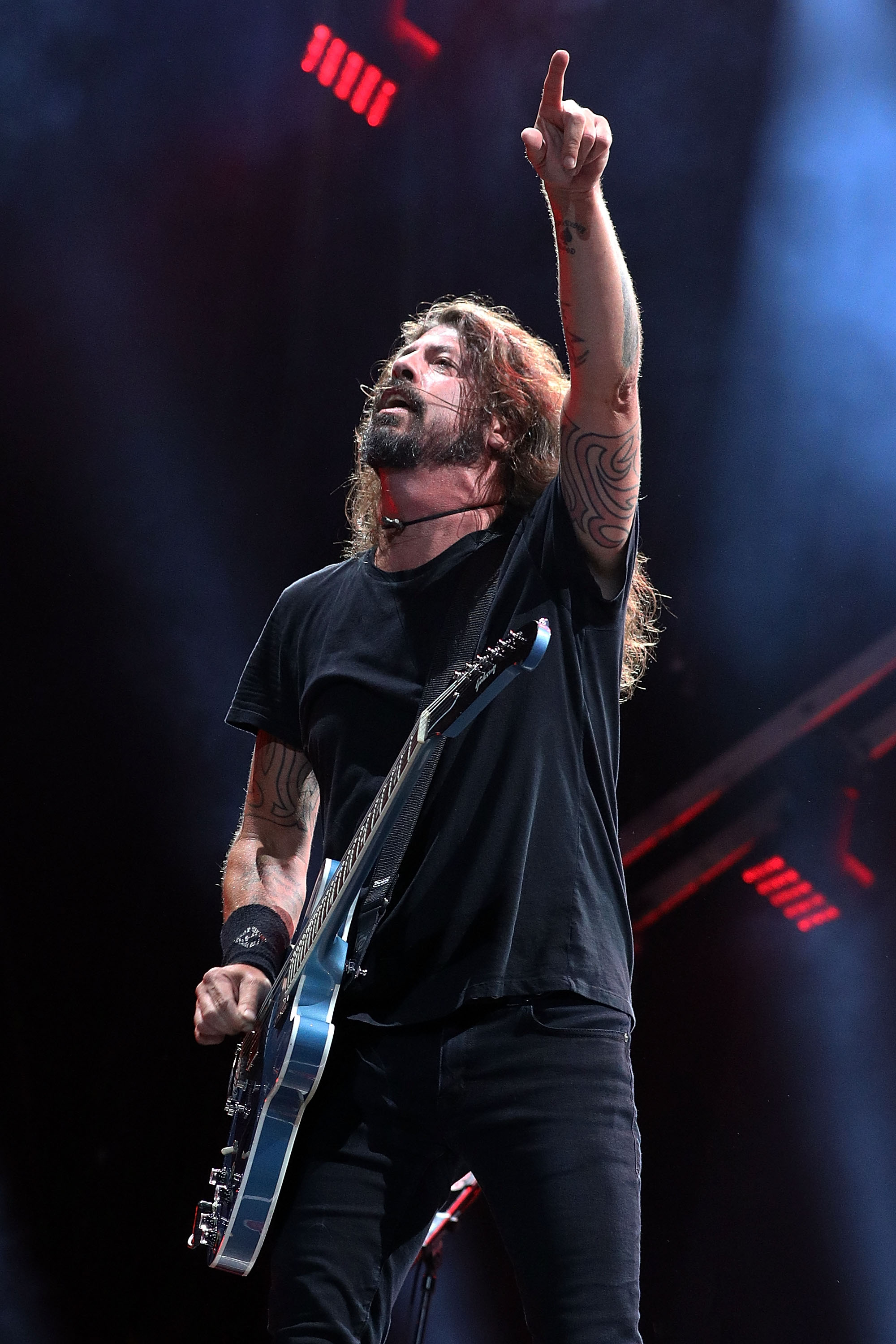 Dave Grohl of Foo Fighters performs during the 2018 KAABOO Del Mar Festival at Del Mar Fairgrounds on September 14, 2018 in Del Mar, California. Photo by Taylor Hill, Getty Images