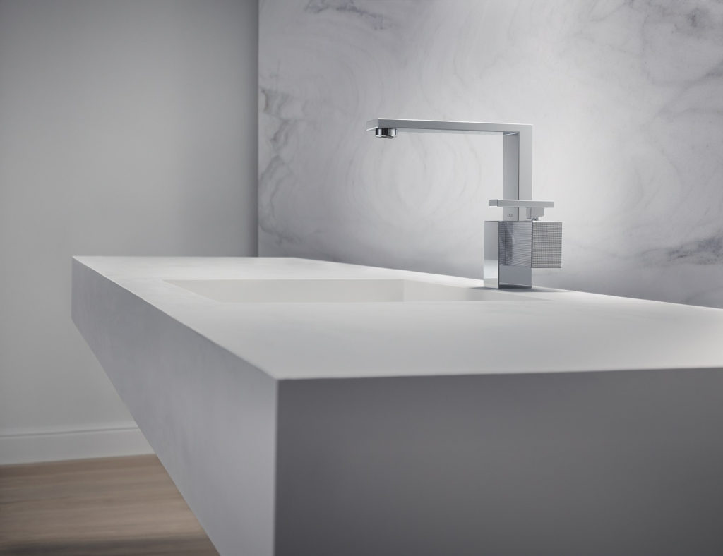 Axor Edge washbasin faucet in polished chrome