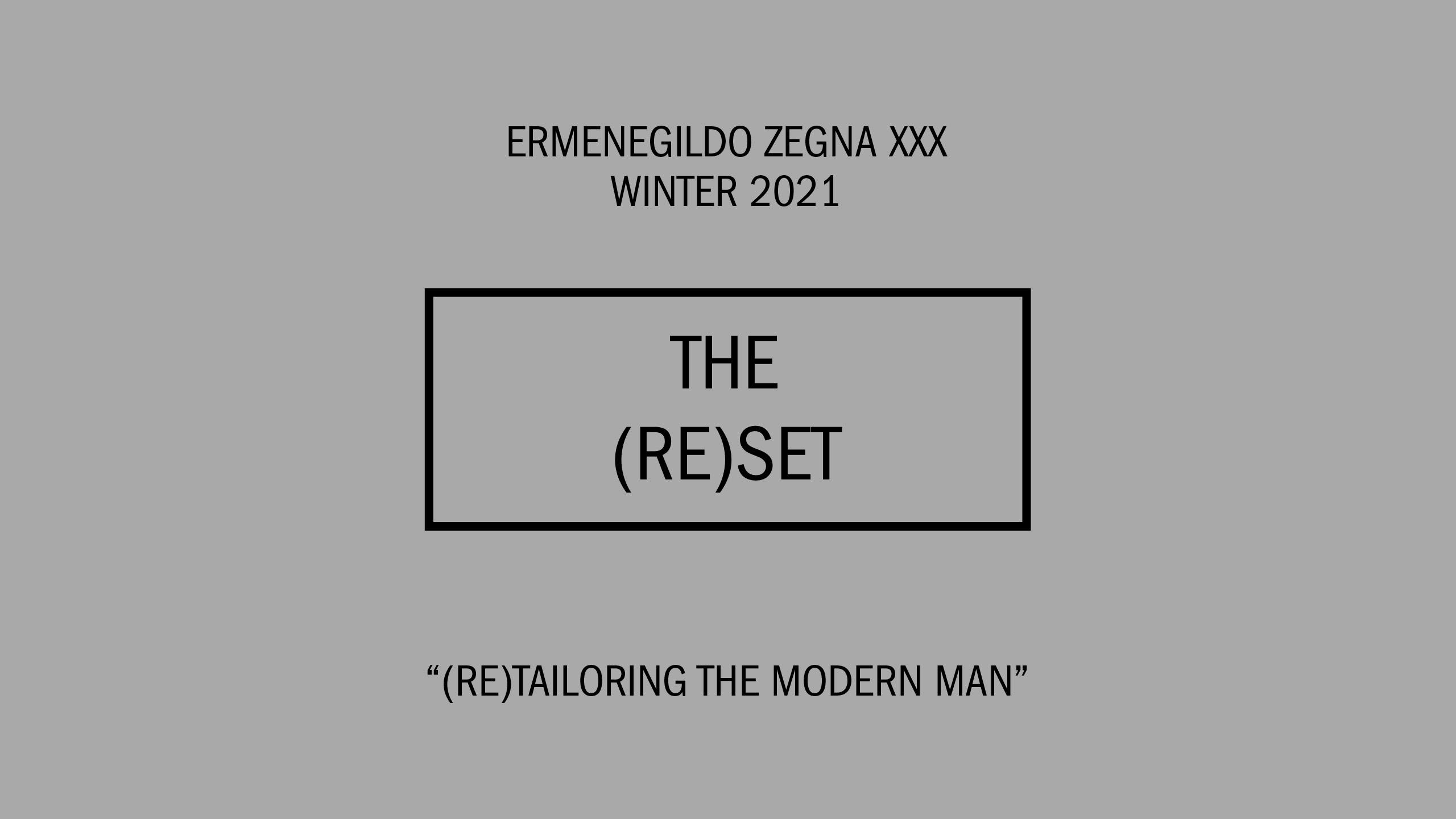 Catch The Ermenegildo Zegna Winter 2021 Phygital Show Live