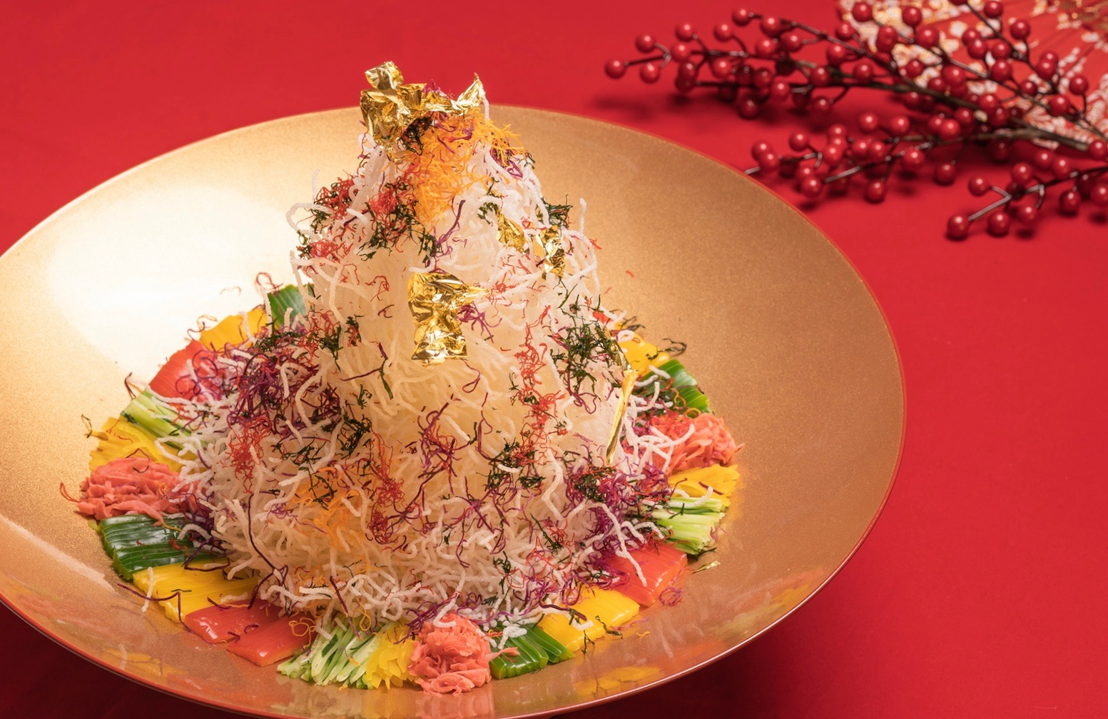 lo hei at Yan, at National Gallery Singapore